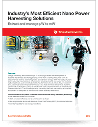 Energy harvesting and nanotechnology