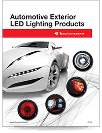 automotive exterior LED lighting selection guide cover sheet