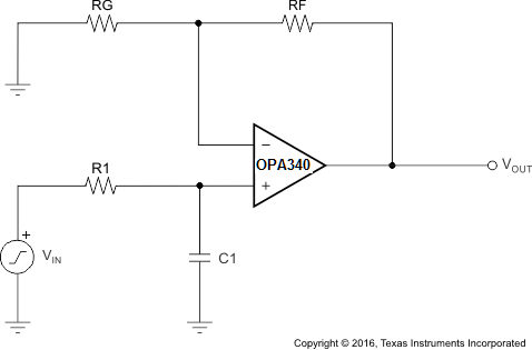 OPA340 OPA2340 OPA4340 1 pole schematic rev.png