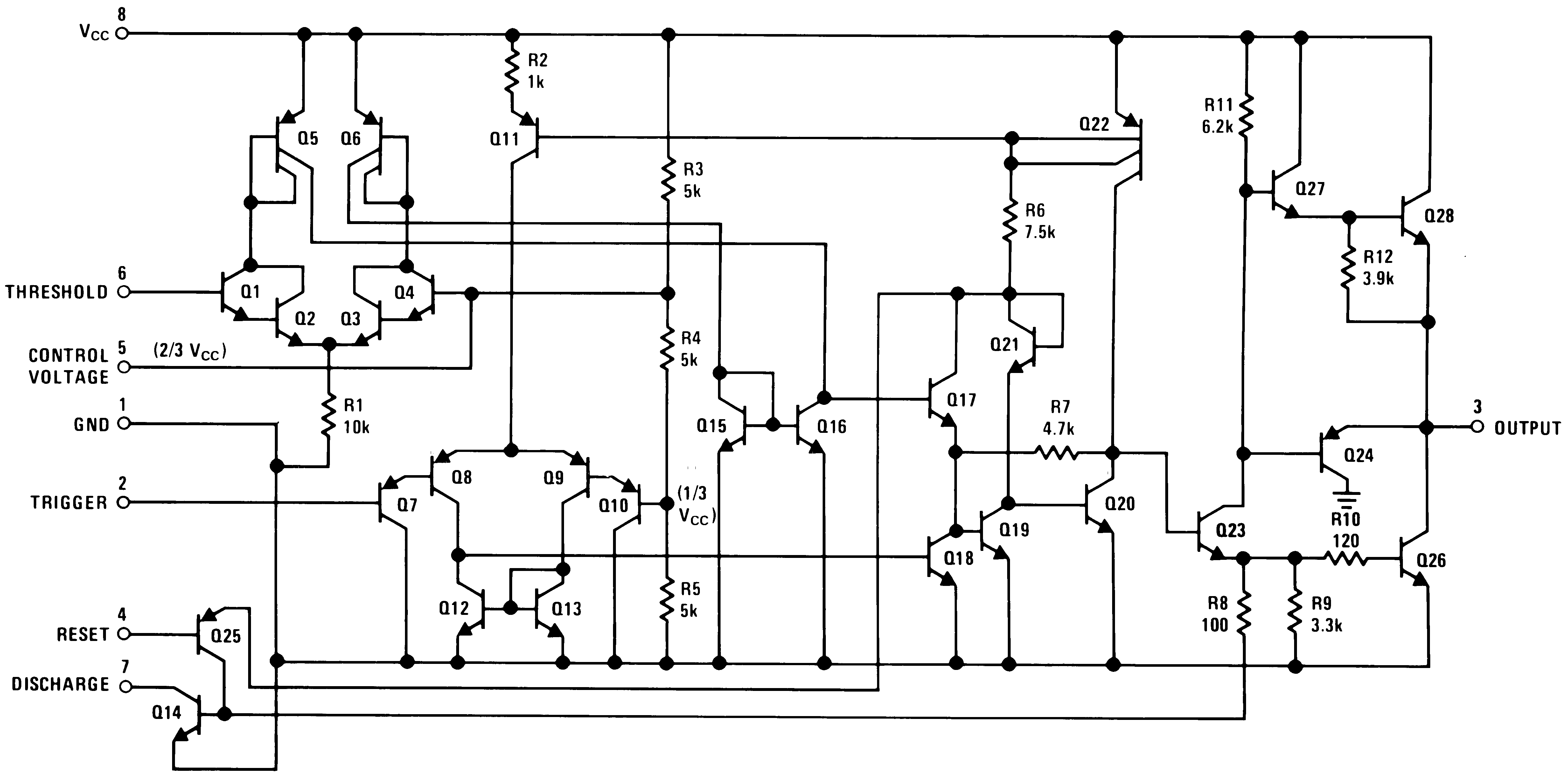 Lm555 In The Astable Operation Mode 555 Timer Circuit Triggers Schematic Diagram