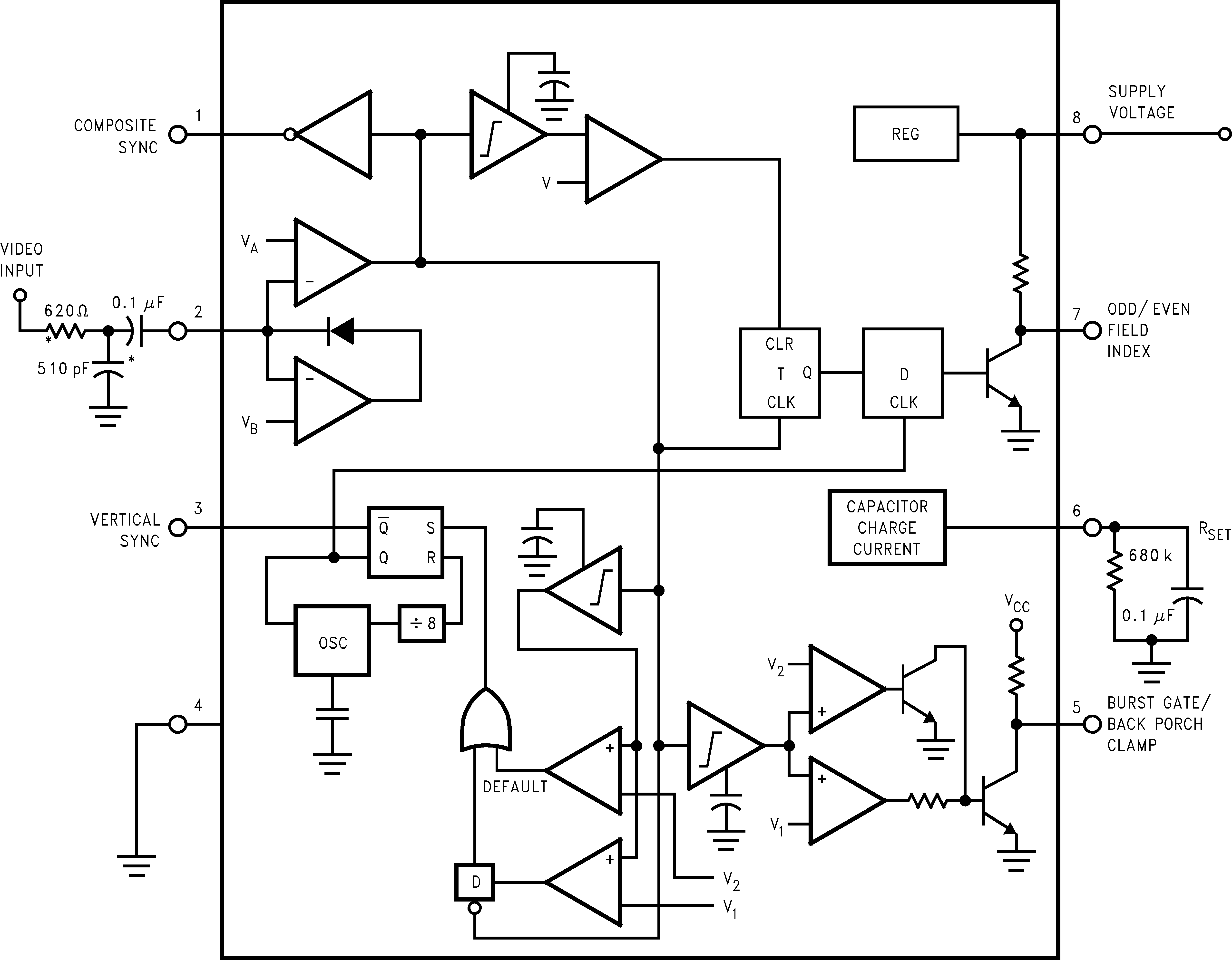 Sync Circuit Diagram Trusted Wiring Positive And Negative Voltage Converter Tradeofic Lm1881 Ti Com Cn Generator Synchronization