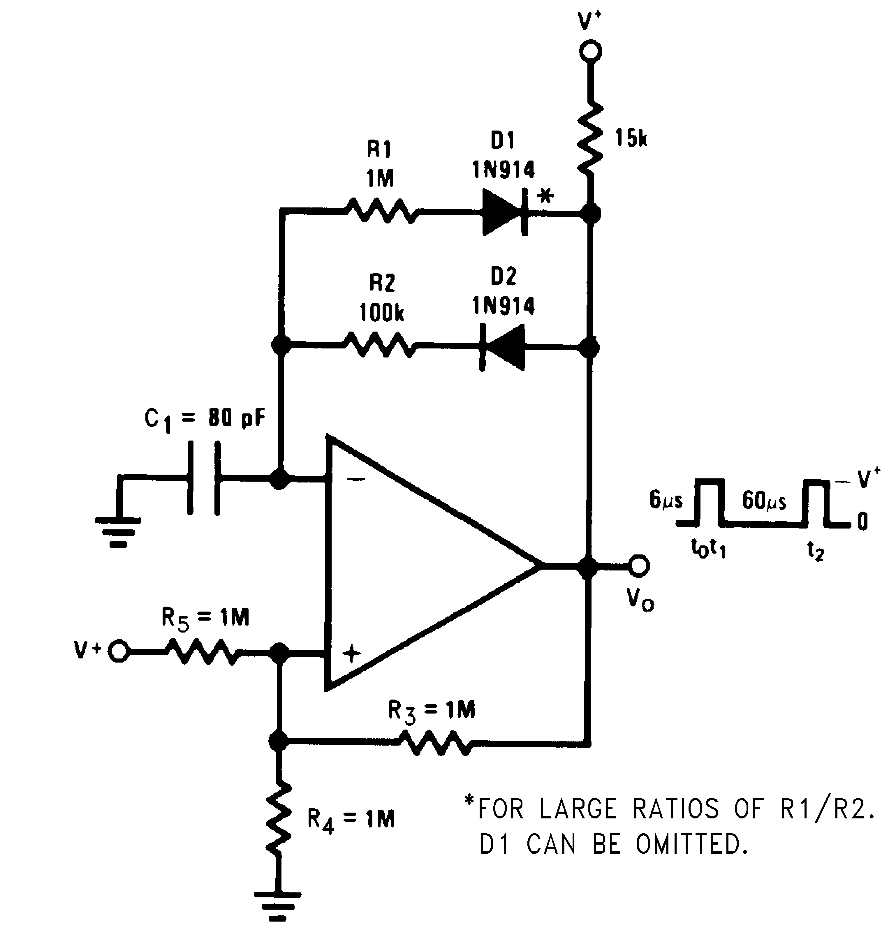Lmv393 N Lowpower Comparator With Less Than 10 V Hysteresis Circuit 823 Pulse Generator Variable Duty Cycle
