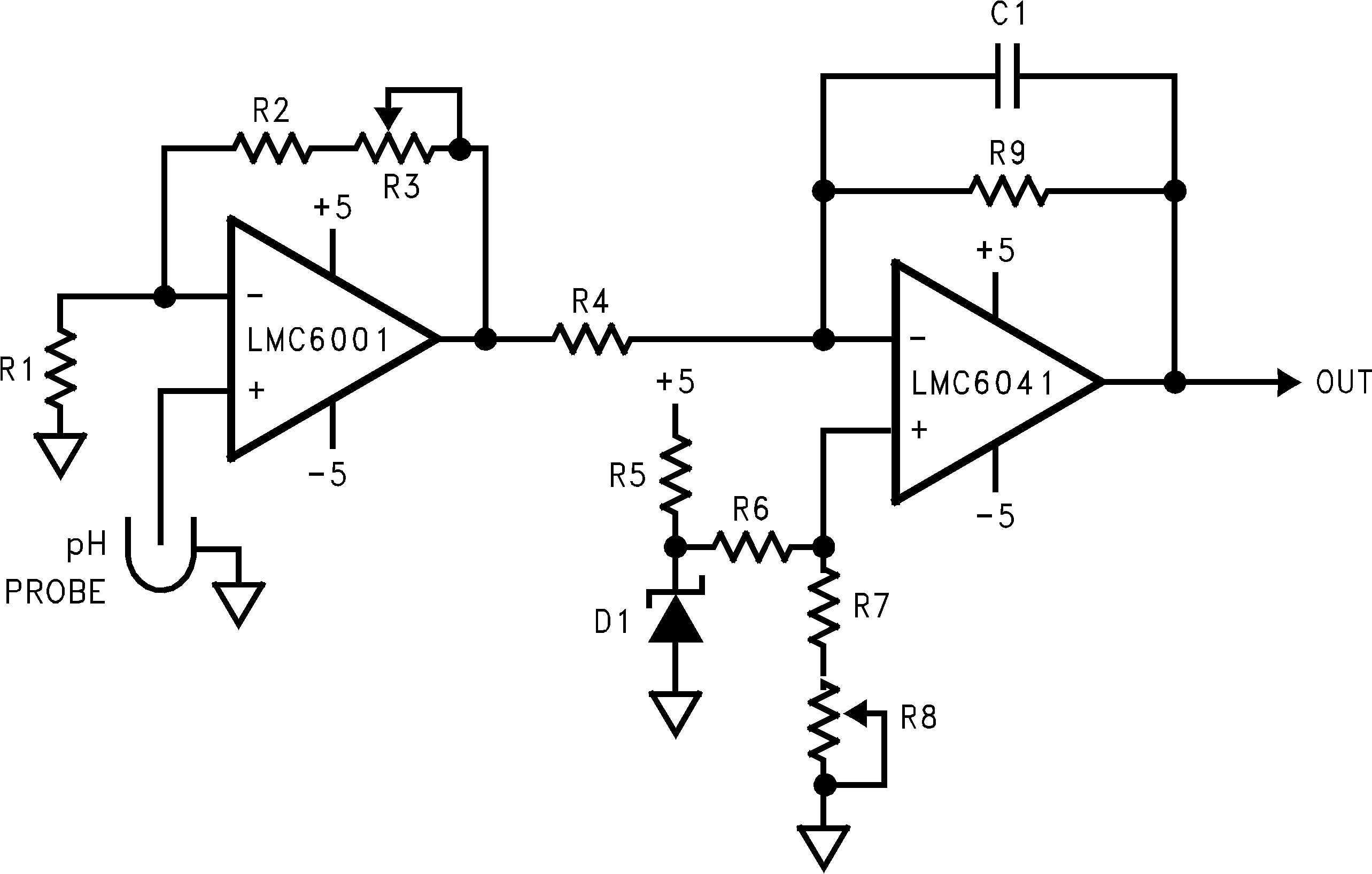 Lmc6001 Op Amp Non Inverting Amplifier Circuit 1188715