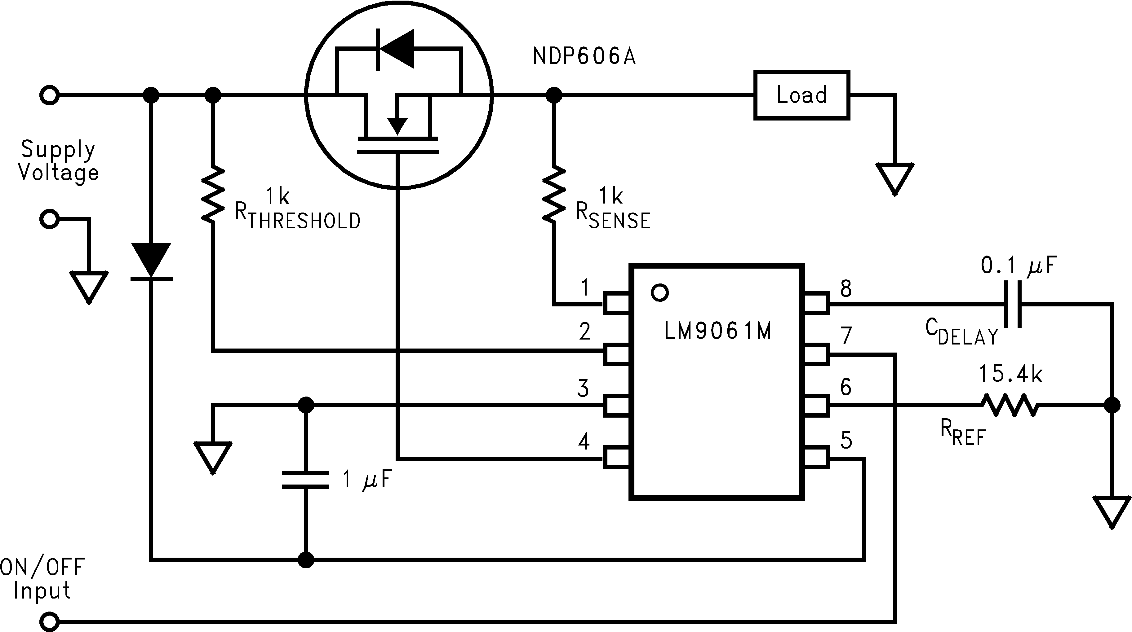 Lm9061 Mosfet Protection Circuit High Side Driving And To A Connected Load