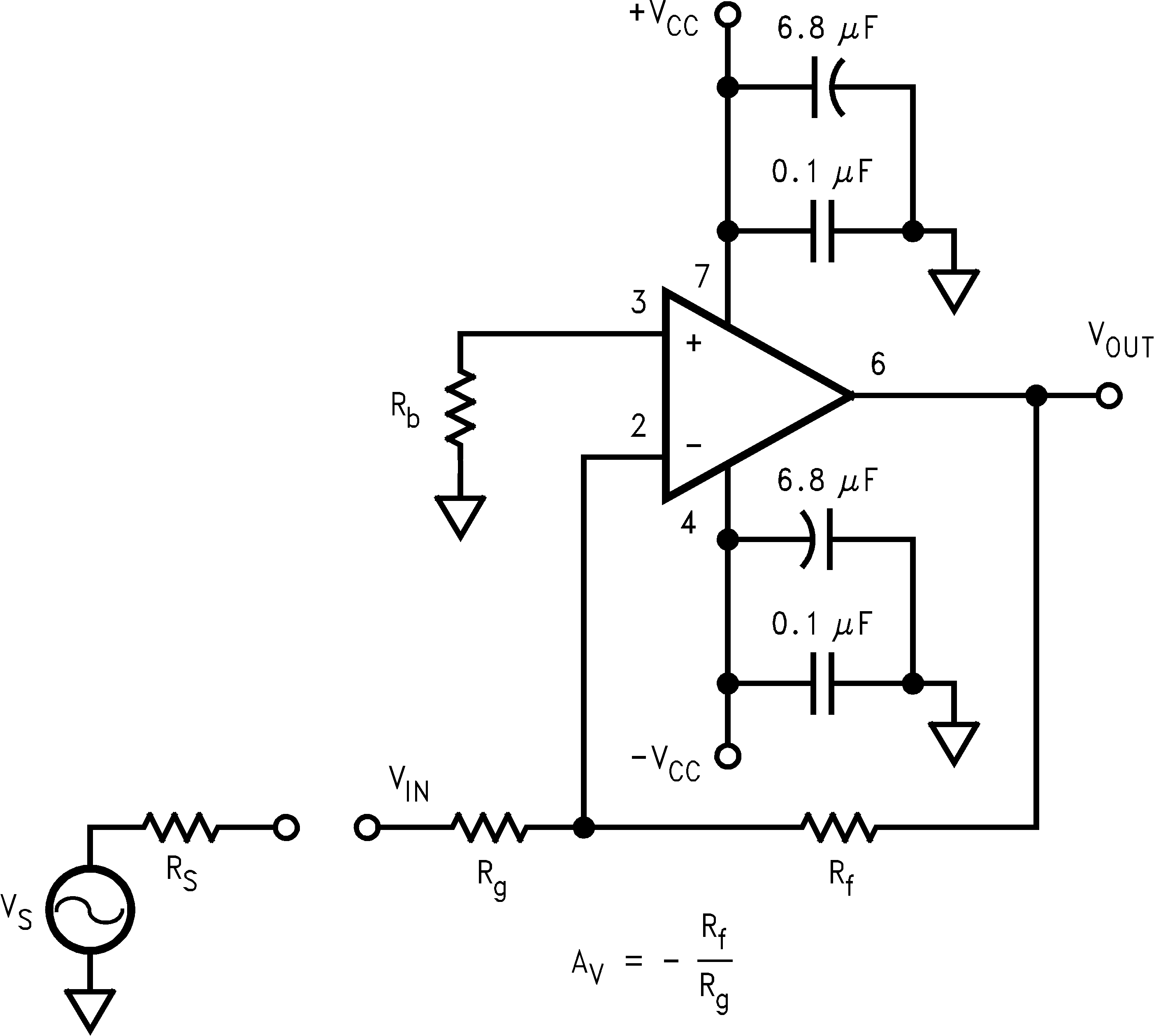 Lmh6626 Single Op Amp Bandpass Filter Inverting Amplifier Configuration