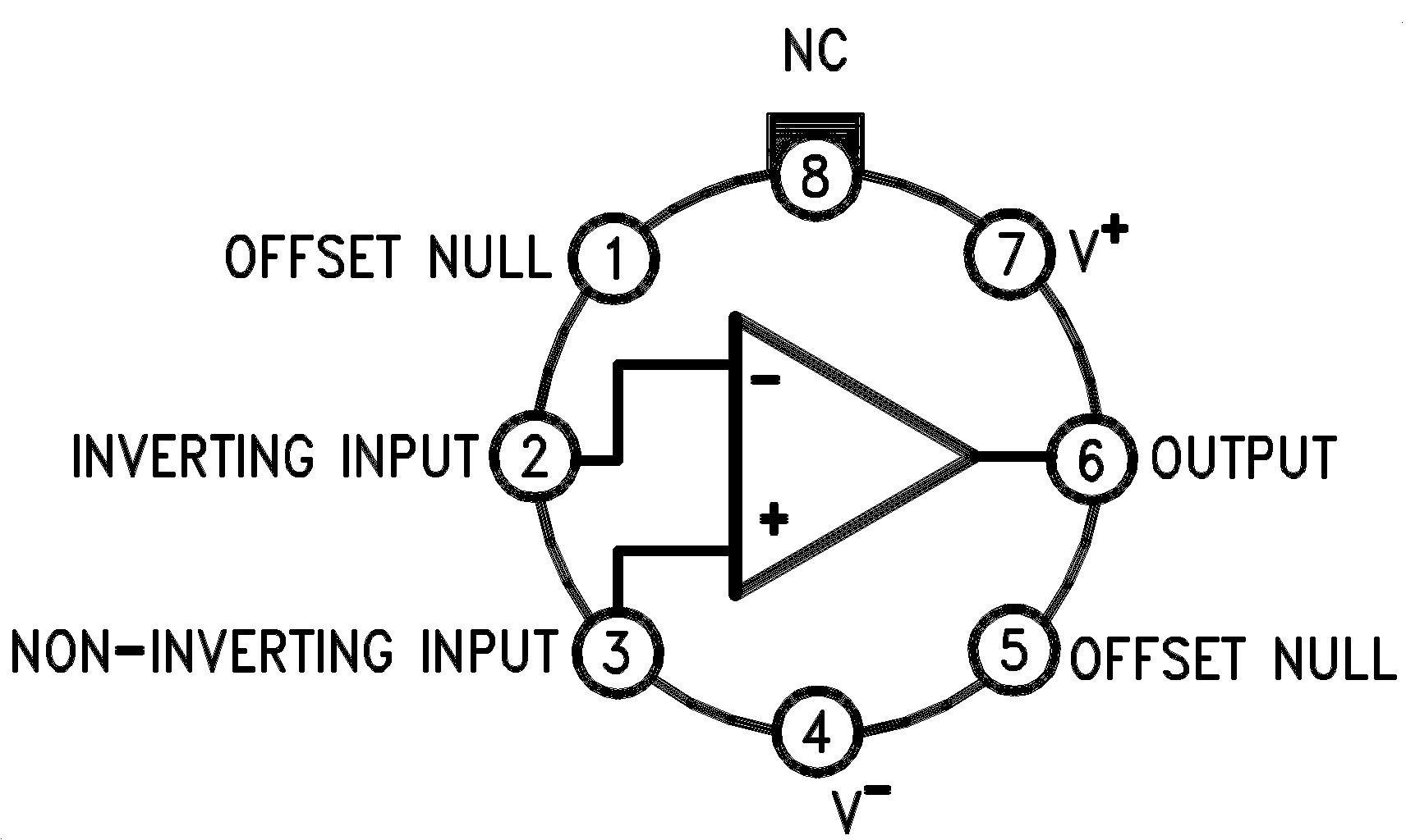 Lm741 Op Amp Pin Diagram 00934102