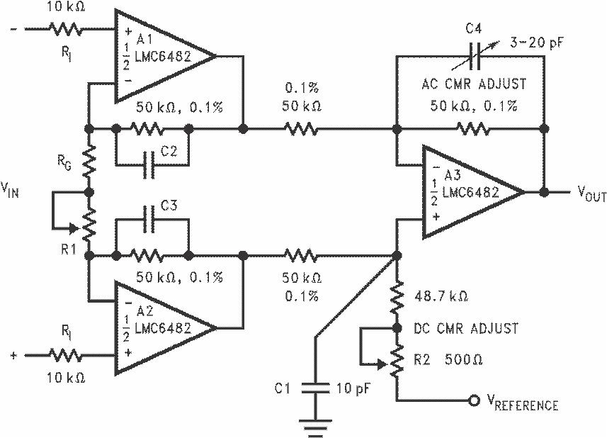 7.1 Amplifier Circuit Diagram | Lmc6482 Mil 数据表 德州仪器 Ti Com Cn