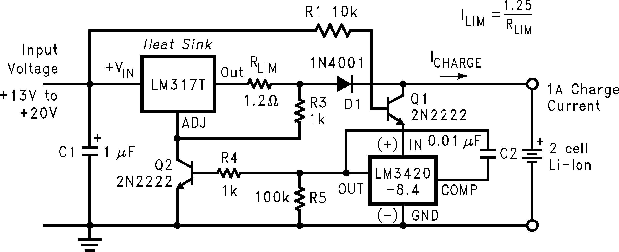 Lm3420 Transistor Regulator Circuit Can Adjustable Output Voltage 01235901