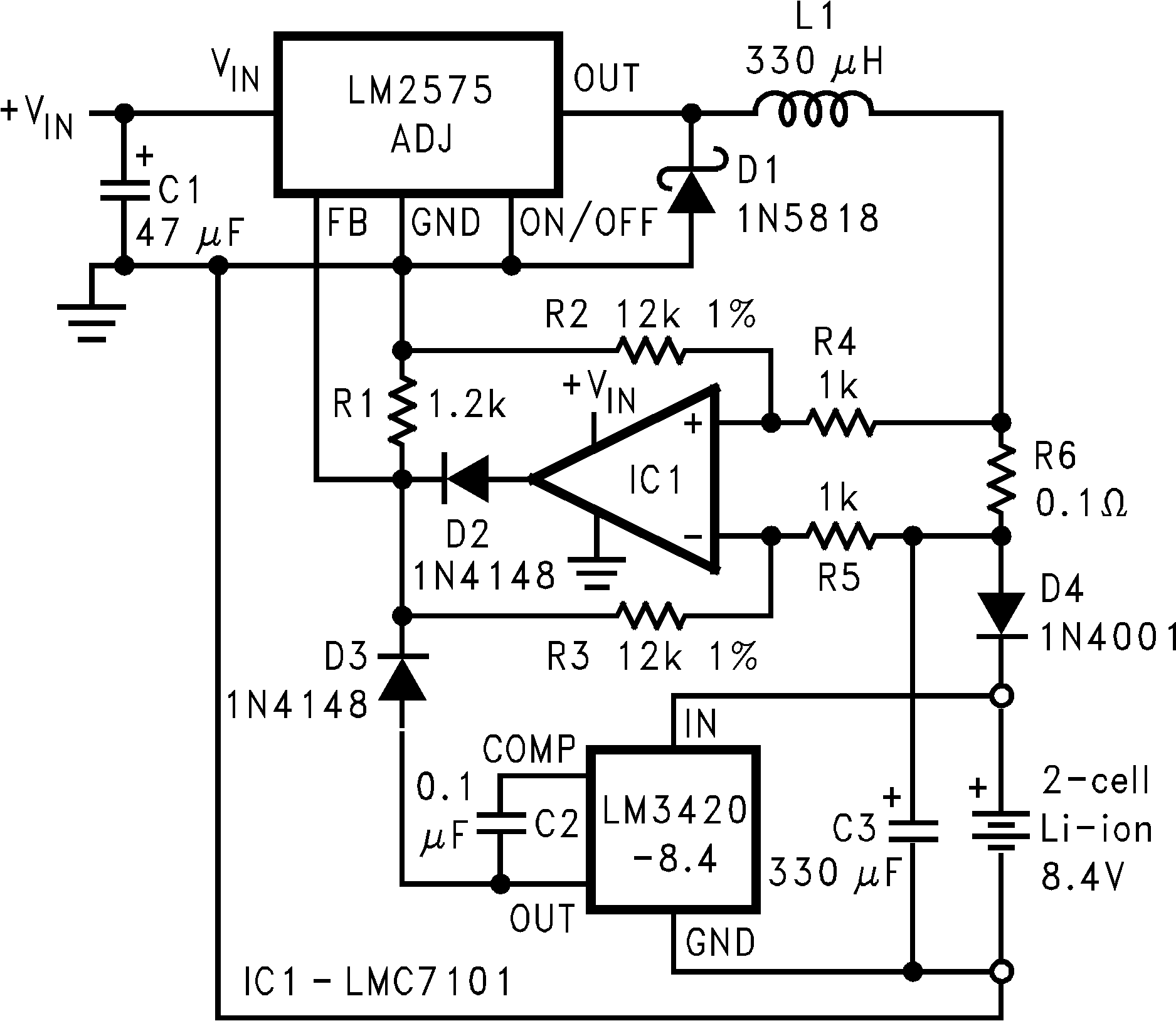 Lm3420 Battery Charger Circuit Using Lm317 High Efficiency Switching With Side Current Sensing