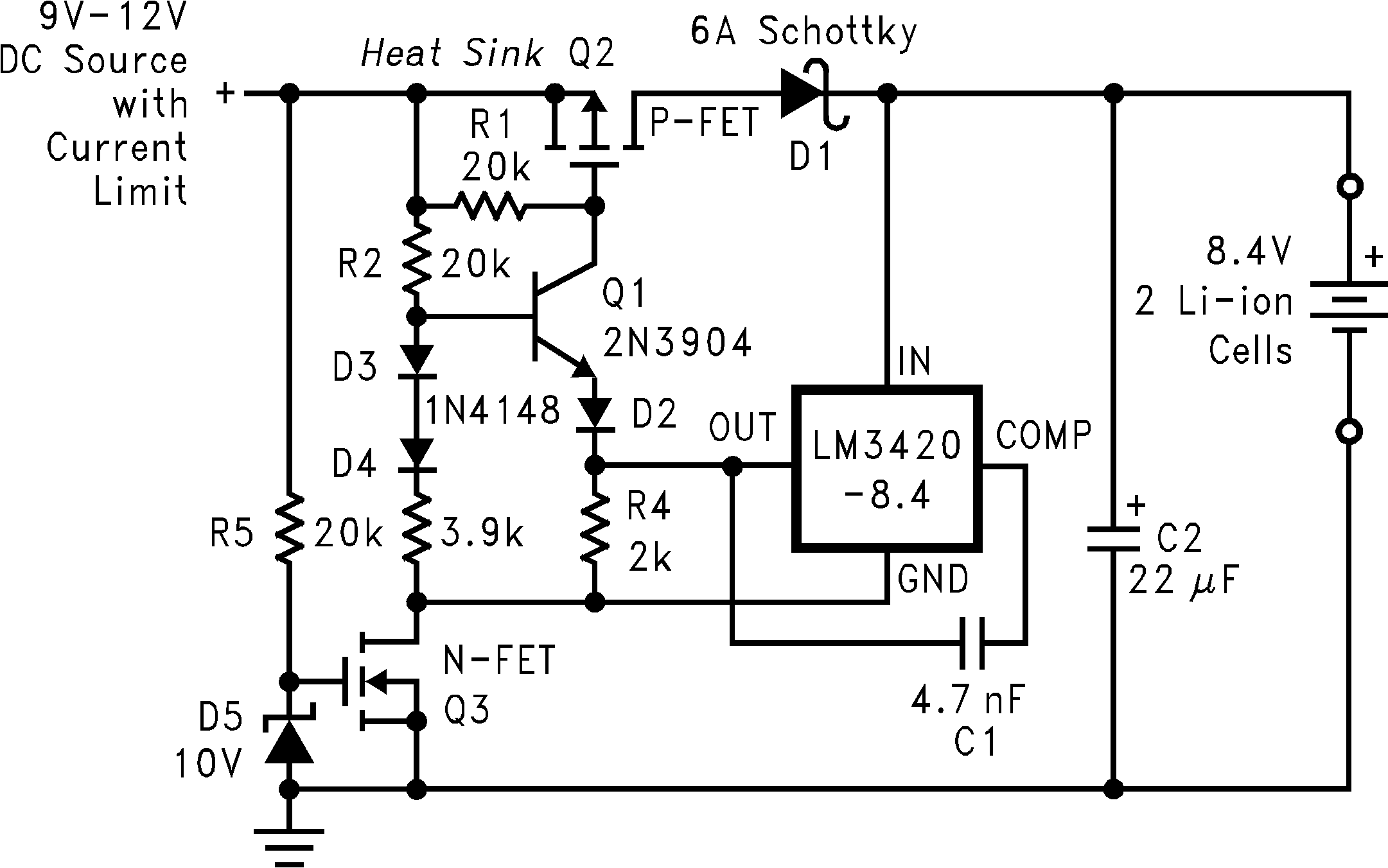 Lm3420 25v 5a Lm338 Power Supply Circuit Diagram And Figure 21 Mosfet Low Dropout Charger