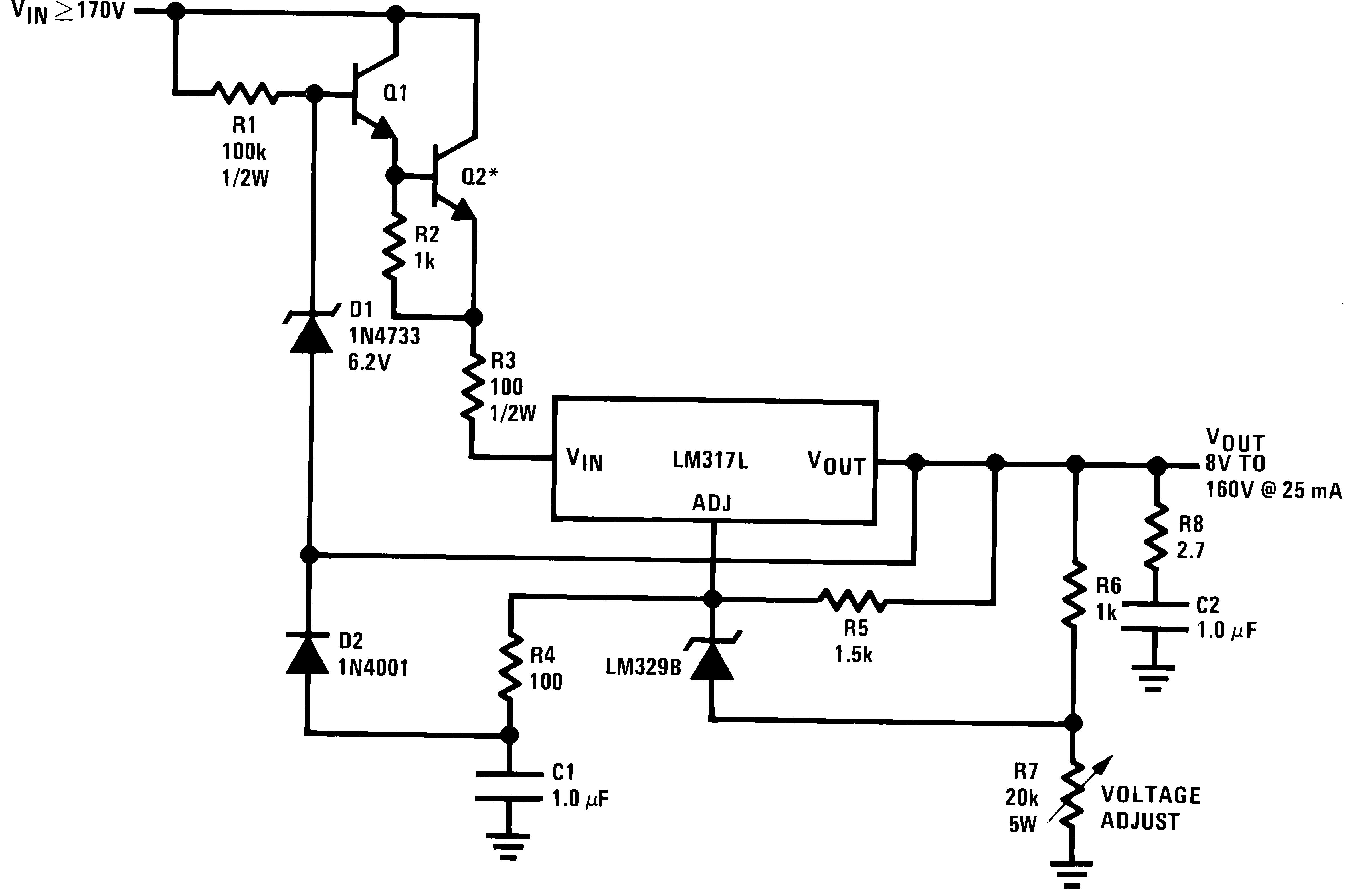 Lm317l N Voltage Regulator Circuit Diagram High 906430